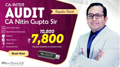 CA Inter Audit Pendrive Classes by CA Nitin Gupta Sir (NEW Course) - Complete Auditing & Assurance Classes Full HD Video Lecture + HQ Sound