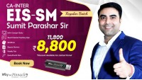 CA Inter EIS SM Pendrive Classes by Sumit Parashar Sir For May 21 & Onwards  | Complete EIS SM Course | Full HD Video + HQ Sound