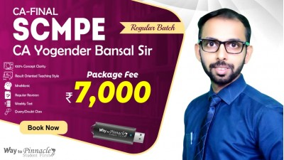 CA Final SCMPE Pendrive Classes by CA Yogender Bansal Sir For May 21 & Onwards - Full HD Video Lecture + HQ Sound