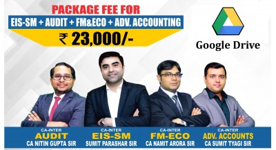 CA-Inter (Group-2) Google Drive EIS-SM +  Audit & Assurance + FM-ECO + ADV. ACCOUNTING Combo Google Drive Classes - Full HD Video Lecture + HQ Sound