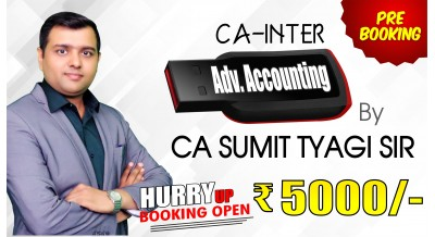 (PRE BOOKING) CA Inter (Group-2) ADVANCED ACCOUNTING Pendrive Classes by CA Sumit Tyagi Sir For May 20 & Onwards - Full HD Video Lecture + HQ Sound