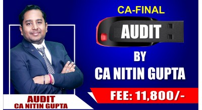 CA-Final Audit Pendrive Classes (Advanced Auditing and Professional Ethics) by CA Nitin Gupta Sir For Nov 19 Attempt - Full HD Video Lecture + HQ Sound