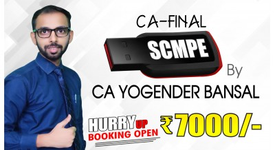 CA Final SCMPE Pendrive Classes by CA Yogender Bansal Sir For May 20 & Onwards - Full HD Video Lecture + HQ Sound