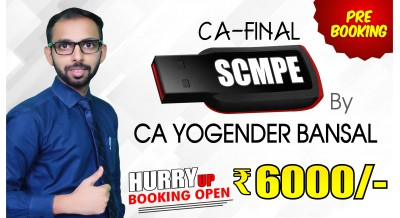(PRE BOOKING) CA Final SCMPE Pendrive Classes by CA Yogender Bansal Sir For May 20 & Onwards - Full HD Video Lecture + HQ Sound