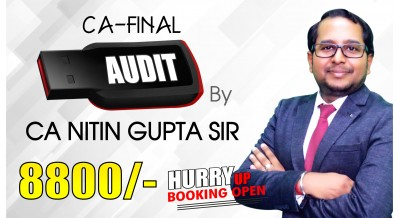 (PRE BOOKING) CA Final Audit Pendrive Classes by CA Nitin Gupta Sir For May 20 & Onwards - Full HD Video Lecture + HQ Sound