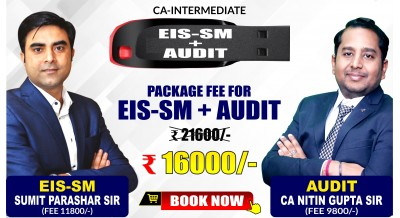 CA-Inter EIS-SM and Audit & Assurance Combo Pendrive Classes by Sumit Parashar Sir and CA Nitin Gupta Sir - Full HD Video Lecture + HQ Sound