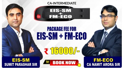 CA-Inter EIS-SM and FM-ECO Combo Pendrive Classes by Sumit Parashar Sir and CA Namit Arora Sir - Full HD Video Lecture + HQ Sound