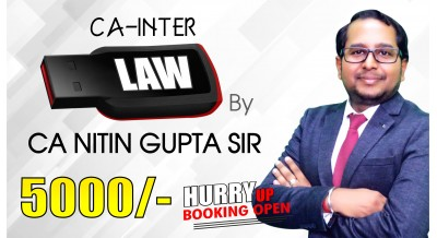 (PRE BOOKING) CA Inter (Group-1) Corporate and Other Laws Pendrive Classes by CA Nitin Gupta Sir For Nov 20 & Onwards - Full HD Video Lecture + HQ Sound