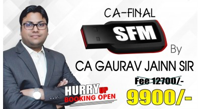 CA Final SFM (New Syllabus) Pendrive Classes by CA Gaurav Jainn Sir For May 20 & Onwards - Full HD Video Lecture + HQ Sound