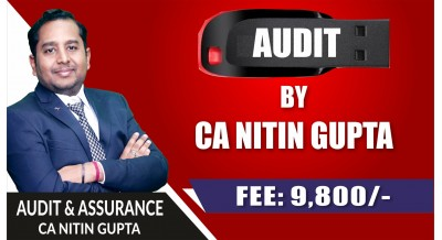 CA Inter Audit Pendrive Classes by CA Nitin Gupta Sir (NEW / OLD Course) - Complete Auditing & Assurance Classes Full HD Video Lecture + HQ Sound