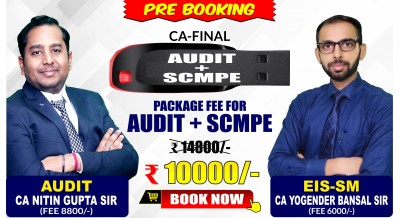 (PRE-BOOKING) CA-FINAL AUDIT and SCMPE Pendrive Classes by CA Nitin Gupta Sir and CA Yogender Bansal Sir - Full HD Video Lecture + HQ Sound