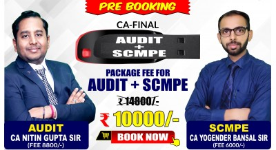 CA-FINAL AUDIT and SCMPE Pendrive Classes by CA Nitin Gupta Sir and CA Yogender Bansal Sir - Full HD Video Lecture + HQ Sound