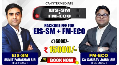 CA-Inter EIS-SM and FM-ECO Combo Pendrive Classes by Sumit Parashar Sir and CA Gaurav Jainn Sir - Full HD Video Lecture + HQ Sound