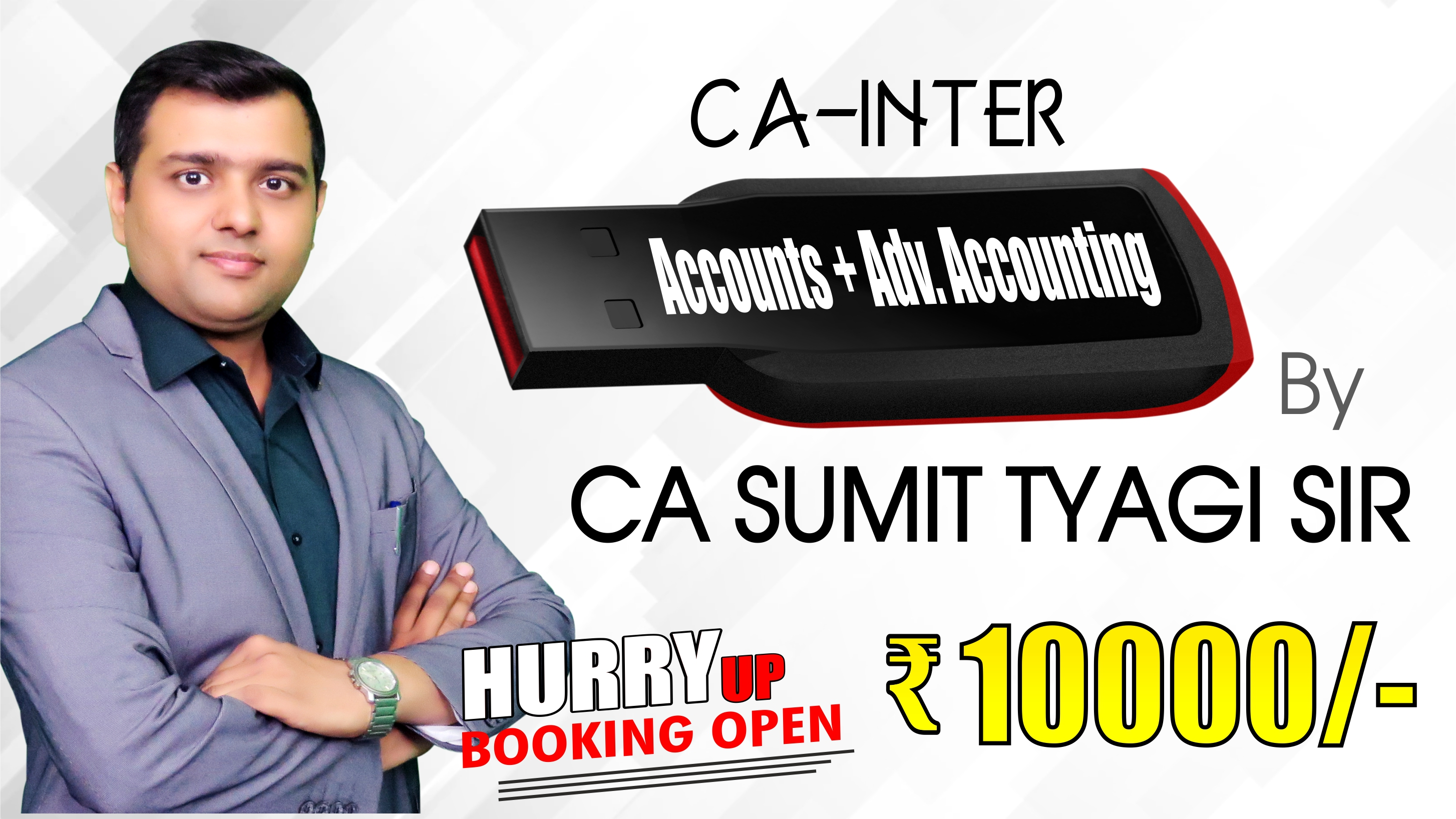 (PRE BOOKING) CA Inter ACCOUNTS + ADV ACCOUNTING Pendrive Classes by CA Sumit Tyagi Sir For May 20 & Onwards - Full HD Video Lecture + HQ Sound