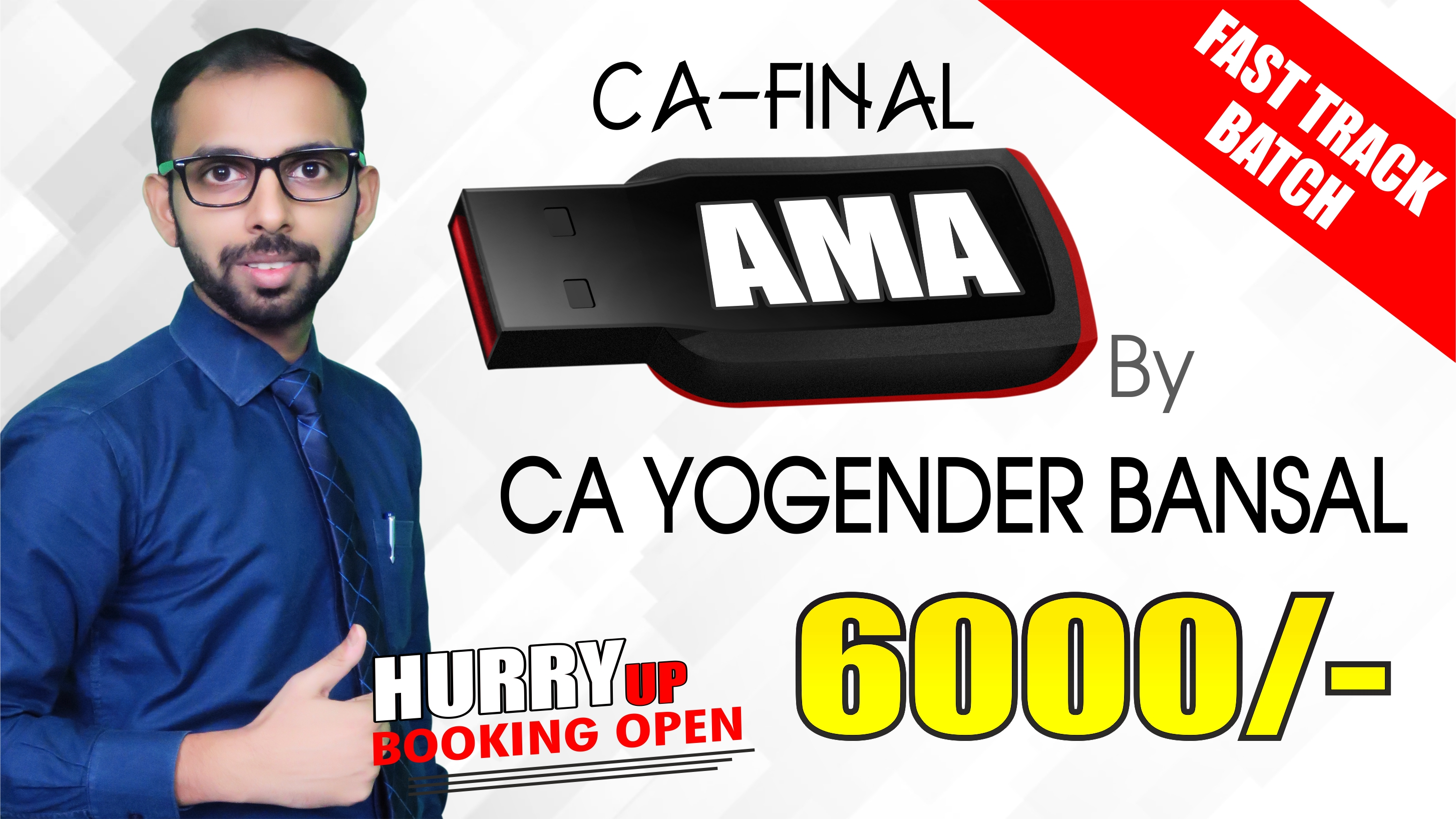 CA Final AMA FASTRACK Pendrive Classes by CA Yogender Bansal Sir For May 20 & Onwards - Full HD Video Lecture + HQ Sound
