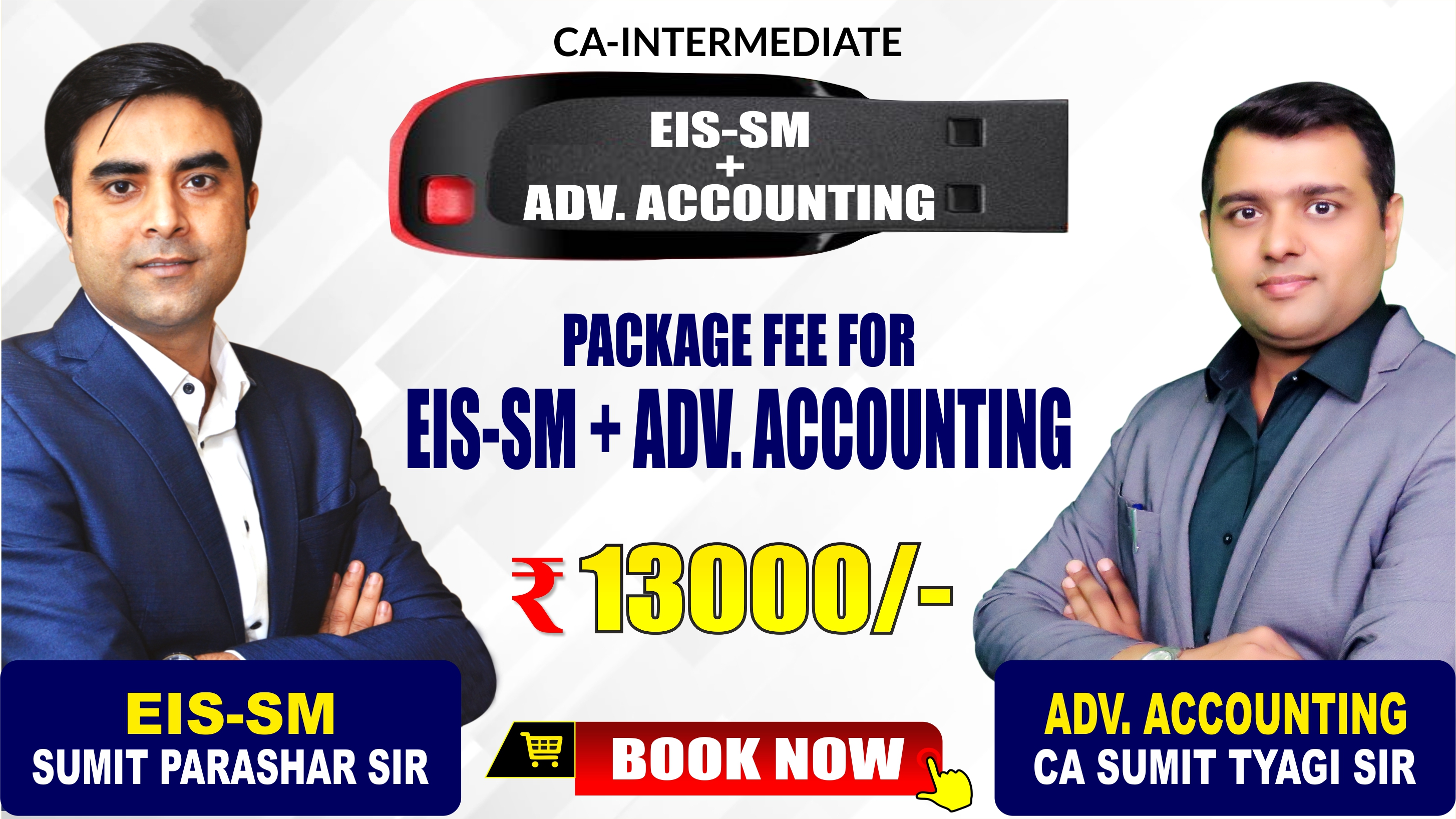 CA-Inter EIS-SM and ADV. ACCOUNTING Combo Pendrive Classes by Sumit Parashar Sir and CA Sumit Tyagi Sir - Full HD Video Lecture + HQ Sound