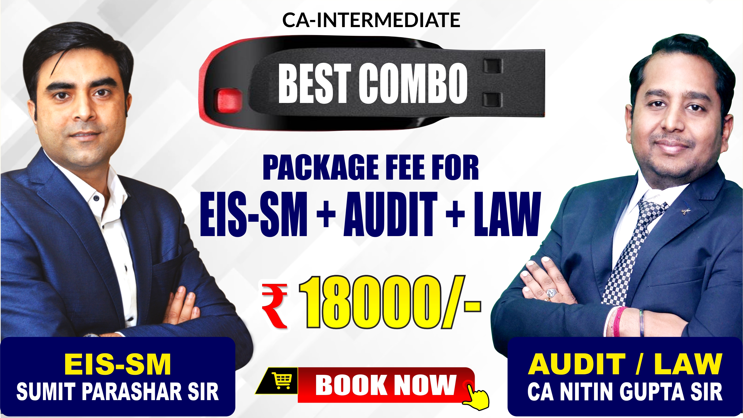 CA-Inter EIS-SM,  Audit & Assurance and Corporate and Other Laws Combo Pendrive Classes by Sumit Parashar Sir and CA Nitin Gupta Sir - Full HD Video Lecture + HQ Sound