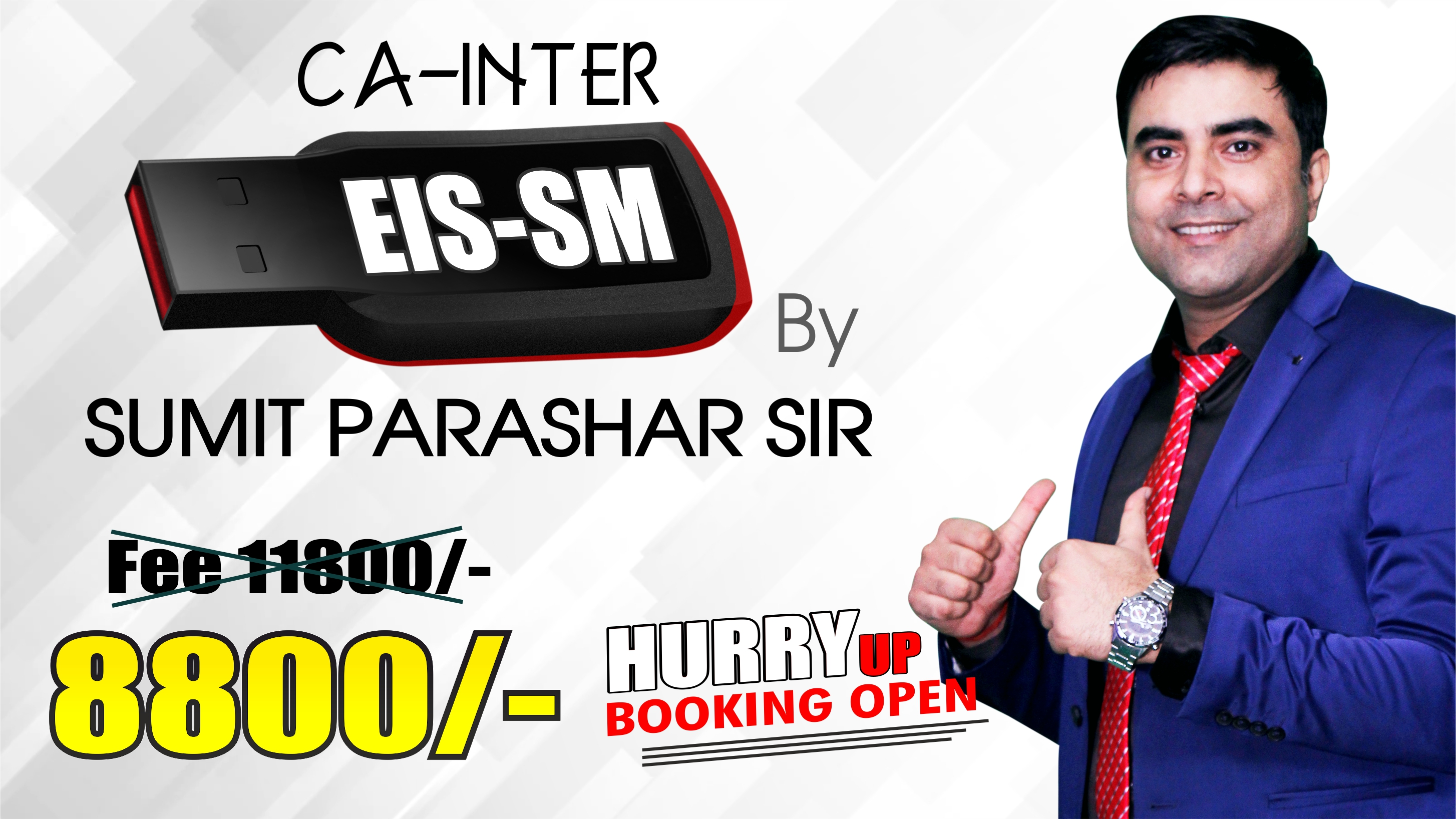 CA Inter EIS SM Pendrive Classes by Sumit Parashar Sir For May 20 & Onwards  | Complete EIS SM Course | Full HD Video + HQ Sound