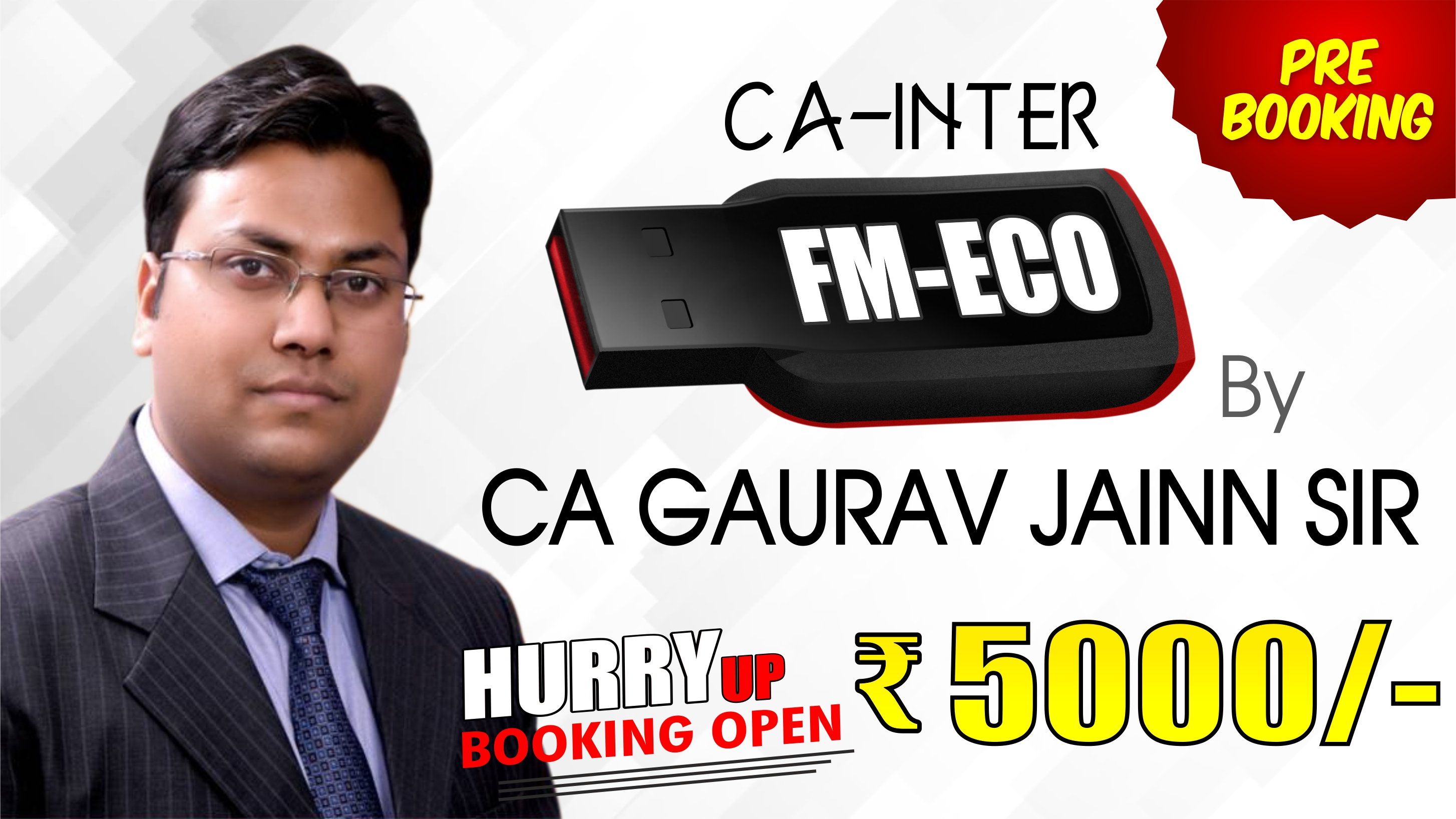 (PRE BOOKING) CA Inter FM-ECO Pendrive Classes by CA Gaurav Jainn Sir For May 20 & Onwards - Full HD Video Lecture + HQ Sound