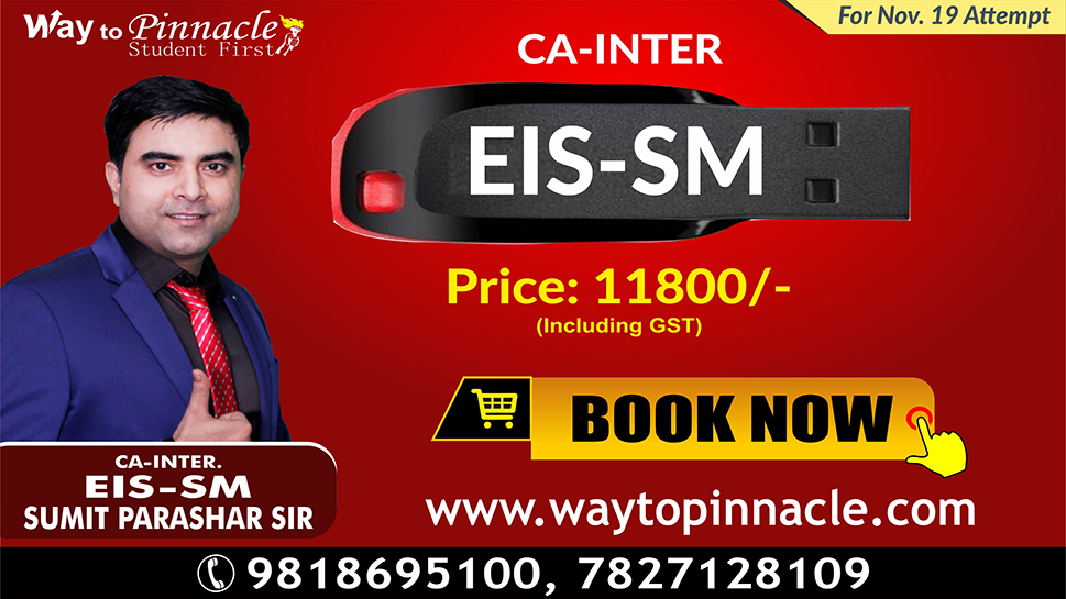 EIS SM Pendrive Classes by Sumit Parashar Sir For May 19/ Nov-19 Attempt | Complete EIS SM Course | Full HD Video + HQ Sound