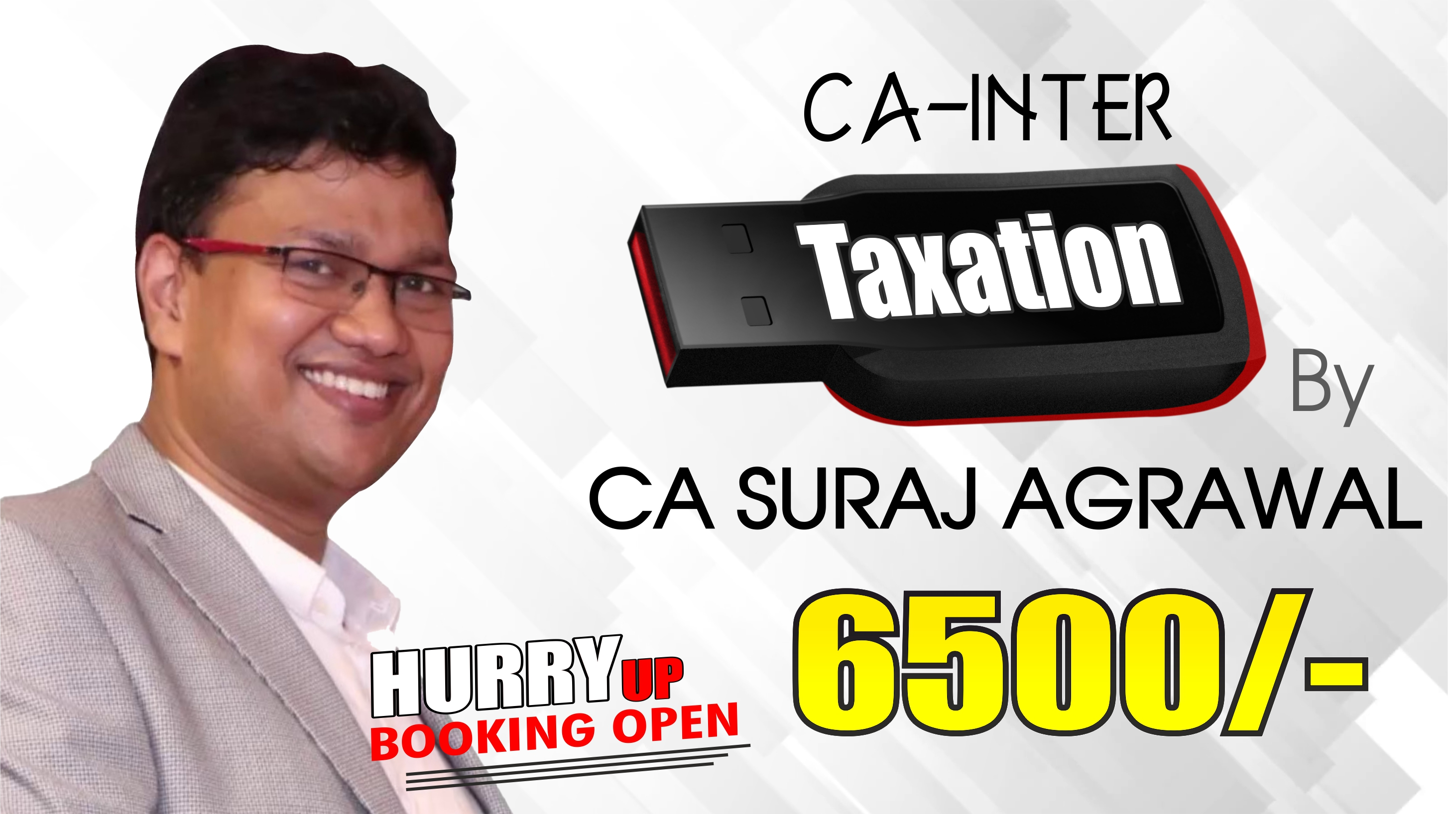 CA INTERMEDIATE GROUP I – TAXATION (NEW COURSE) BY CA SURAJ AGRAWAL For May 20 & Onwards | Full HD Video + HQ Sound