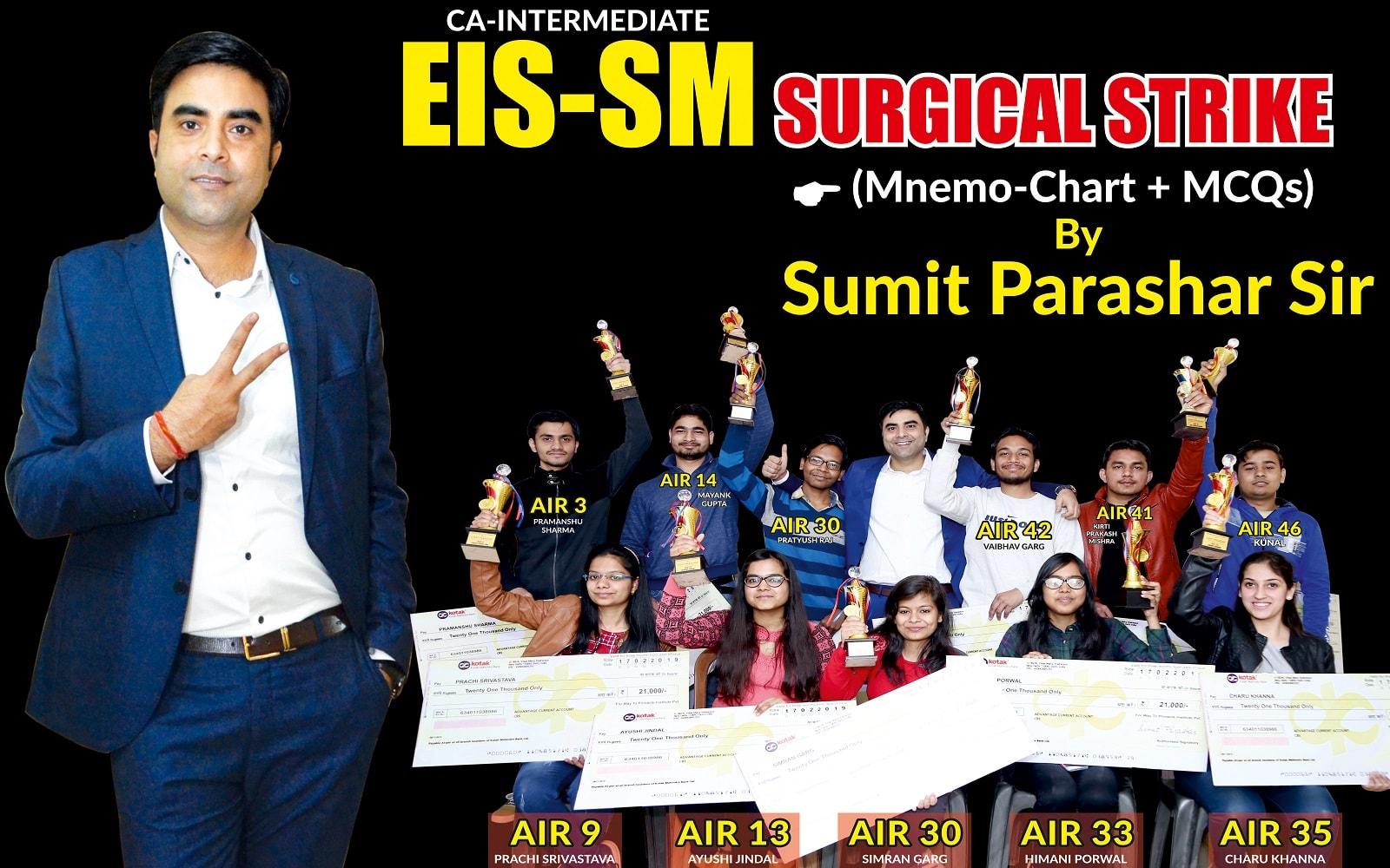 CA-INTER EIS-SM CHARTS AND MCQs For Nov 19 & Onwards  by Sumit Parashar Sir